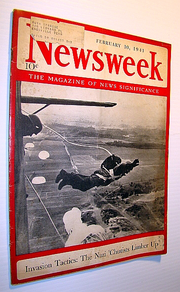 Image for Newsweek - The Magazine of News Significance: February 10, 1941 - Cover Photo of Nazi Paratroopers in Flight