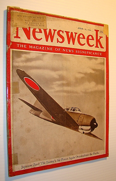 Image for Newsweek - The Magazine of News Significance, April 26,1943 -  Cover Photo of Japanese Zero