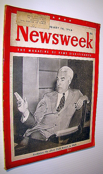 Image for Newsweek - The Magazine of News Significance, January 14, 1946: Cover Photo of Edward Reilly Stettinius, Jr. / Germ Warfare Article
