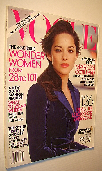 Image for Vogue Magazine (US), August 2012 - Marion Cotillard Cover