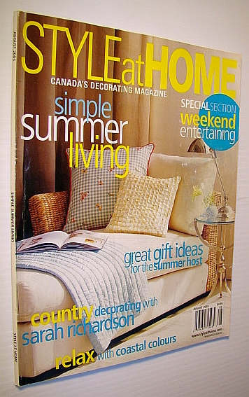 Image for Style at Home - Canada's Decorating Magazine, August 2005: Simple Summer Living