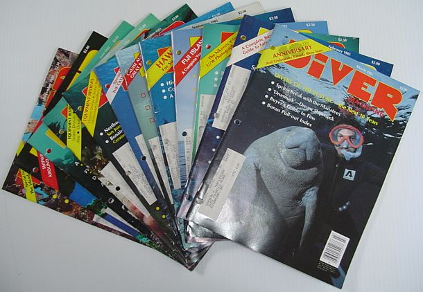 Image for Diver Magazine: 9 Issues from 1985 Plus 4 Bonus Issues