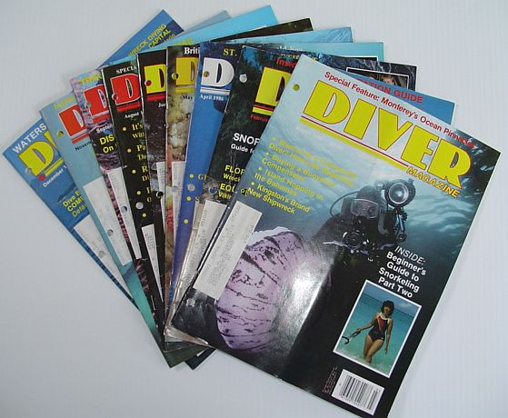 Image for Diver Magazine: 9 Issues from 1986