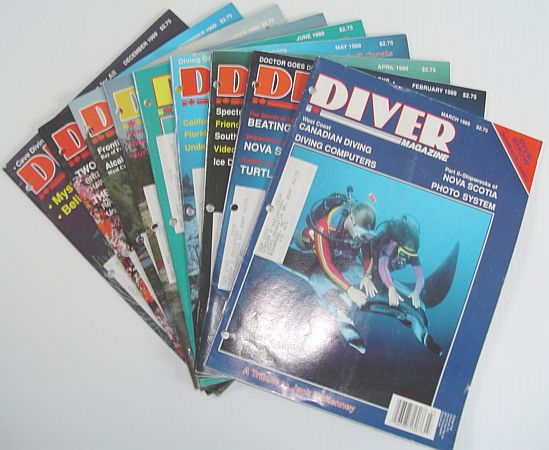 Image for Diver Magazine: 9 Issues from 1989