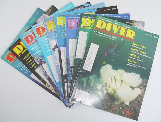 Image for Diver Magazine: 9 Issues from 1991