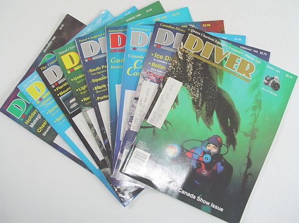 Image for Diver Magazine: 9 Issues from 1992