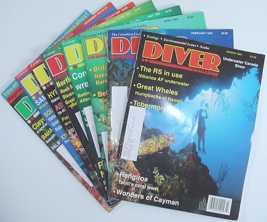 Image for Diver Magazine: 8 Issues from 1993