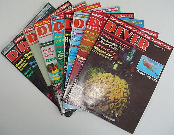 Image for Diver Magazine: 9 Issues from 1997