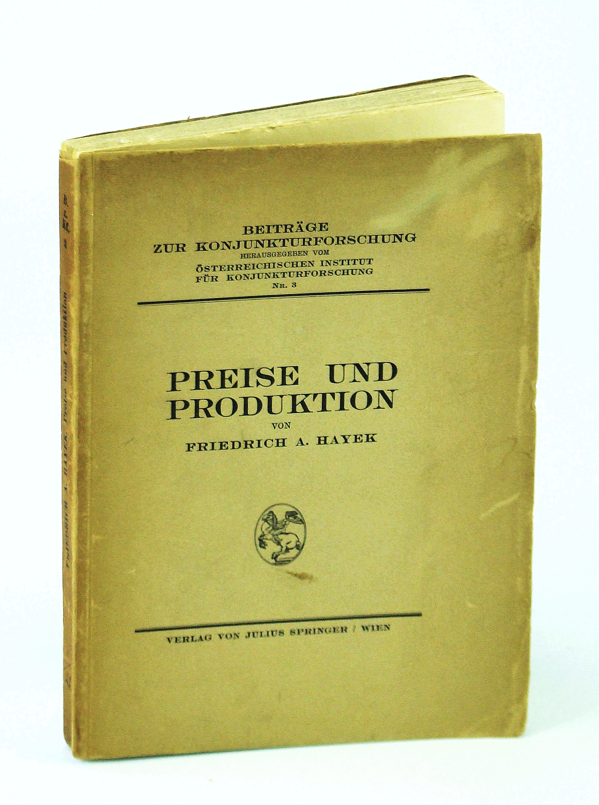 Image for Preise Und Produktion ( Common English Title: Prices and Production)
