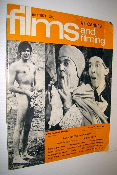 Image for Films and Filming Magazine, June 1971 - At Cannes (cover Photo of Nude Jurgen Draeger