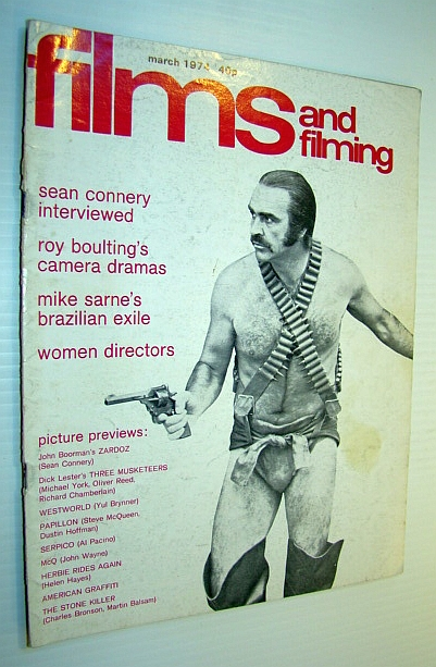 Image for Films and Filming Magazine, March 1974 - Sean Connery Cover Photo and Interview