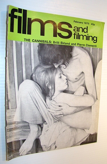 Image for Films and Filming Magazine, February 1975 - Cover Photo of 'The Cannibals' with Britt Ekland and Pierre Clementi