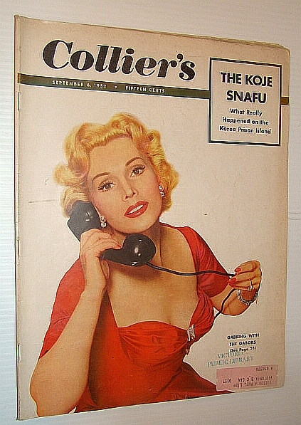 Image for Collier's Magazine, September 6, 1952 - The Koje Snafu / Zsa Zsa Gabor Cover