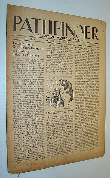Image for Pathfinder Magazine - A Weekly Digest of World Affairs From the Nation's Capital, August 3 1933 - Is a National Sales Tax Coming? / Social Security Law