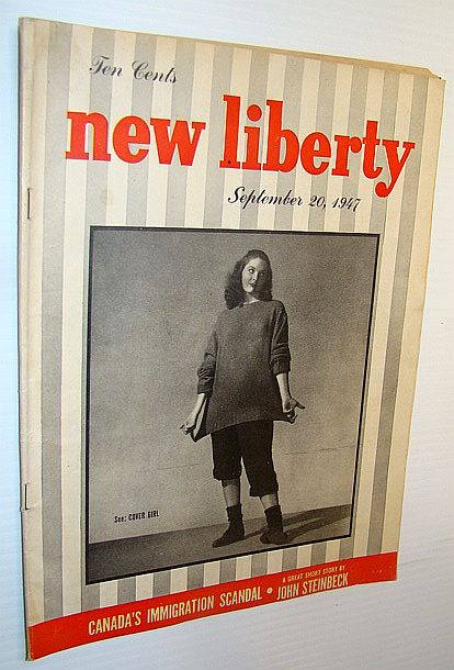 Image for New Liberty Magazine, September 20, 1947 - Canada's Immigration Scandal / Dusty Henderson Cover Photo