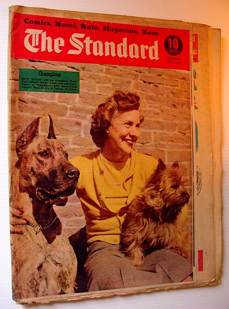 Image for The Standard, 31 May 1947 - Weekly Montreal Pictorial Newspaper - Cover Photo of Betty Hyslop and Her Champion Dogs