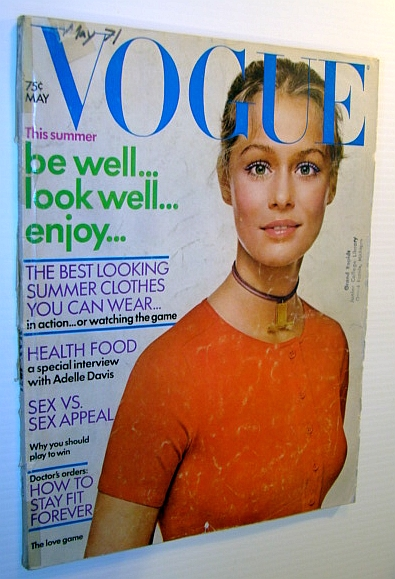 Image for Vogue Magazine (US) May 1971 - Lauren Hutton Cover Photo