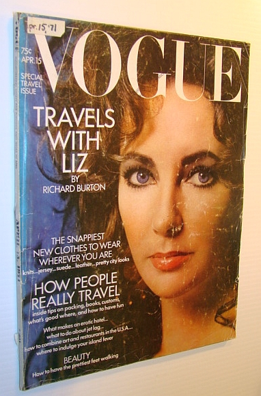 Image for Vogue Magazine (US) 15 April 1971 - Gorgeous Elizabeth Taylor Cover Photo