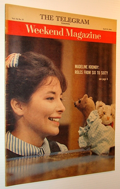 Image for Weekend Magazine, 25 April 1964 (Newspaper Insert) - Madeline Kronby Cover Photo