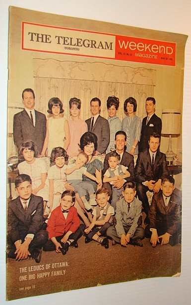 Image for Weekend Magazine, 22 May 1965 - Leduc Family Cover Photo