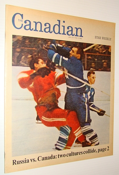 Image for The Canadian/Star Weekly Magazine, 29 January - 5 February 1966: Russia Vs. Canada in Hockey / Harry Saltzman Got the James Bond Boom Going