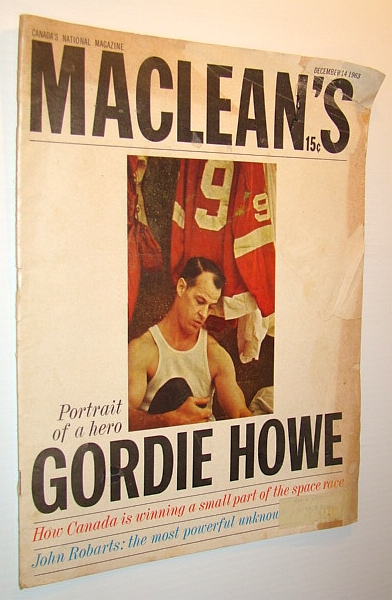 Image for Maclean's - Canada's National Magazine, December 14, 1963 - Gordie Howe Cover Photo