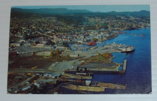 Image for Aerial Colour Picture Postcard of Downton Nanaimo, British Columbia