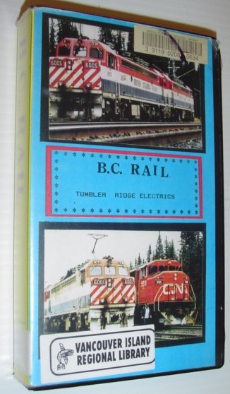 Image for B.C. (British Columbia) Rail - Tumbler Ridge Electrics: 2 Hour VHS Videotape in Case