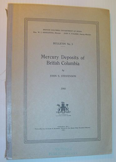 Image for Mercury Deposits of British Columbia: Bulletin No. 5
