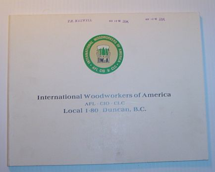 Image for International Woodworkers of America, AFL-CIO-CLC, Local 1-80, Duncan B.C.
