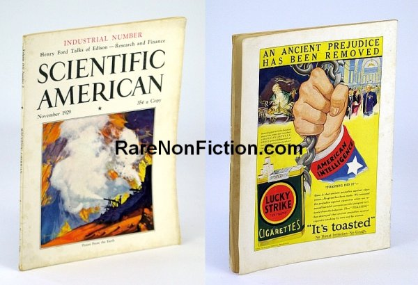 Image for Scientific American November (Nov.) 1929 Volume 141 Number 5  - Featuring Timeless Great Depression Advertising Fail