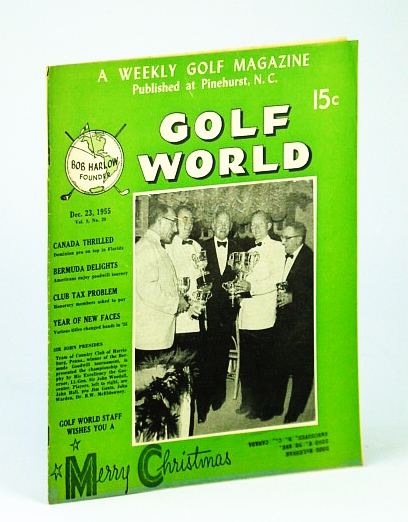 Image for Golf World - A Weekly Golf Magazine, Dec. (December) 23, 1955, Vol. 9, No. 29