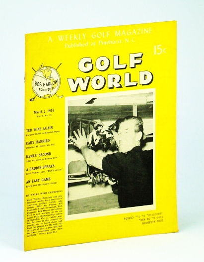 Image for Golf World - A Weekly Golf Magazine, Mar. (March) 2, 1956, Vol. 9, No. 39 - Cover Photo of British Professional Caddie, Cecil Timms