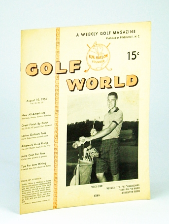 Image for Golf World - A Weekly Golf Magazine, August (Aug.) 10, 1956, Vol. 10, No. 10 - Cover Photo of Cobby Ware