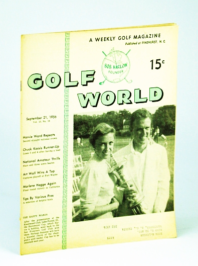 Image for Golf World - A Weekly Golf Magazine, 21 September (Sept.), 1956, Vol. 10, No. 16 - Cover Photo of Mr. And Mrs. Edward Harvie Ward Jr.
