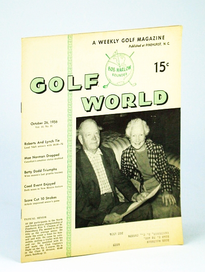 Image for Golf World - A Weekly Golf Magazine, 26 October (Oct.), 1956, Vol. 10, No. 21 - Cover Photo of Mr. And Mrs. Eric T. Clauson of St. Petersburg, Florida