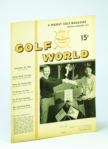 Image for Golf World - A Weekly Golf Magazine, 30 November (Nov.), 1956, Vol. 10, No. 26 - Cover Photo of John Z. Horter and John F. Pottle