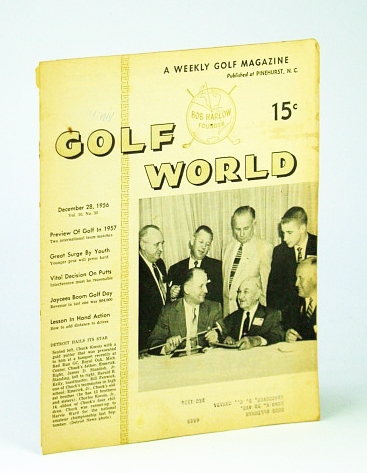 Image for Golf World - A Weekly Golf Magazine, 28 December (Dec.), 1956, Vol. 10, No. 30 - Cover Photo of Detroit Hailing Its Star Chuck Kocsis