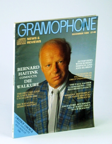 Image for Gramophone Magazine, December (Dec.) 1988 - Bernard Haitink Cover Photo