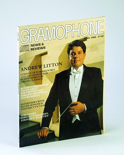 Image for Gramophone Magazine, April (Apr.) 1989 - Andrew Litton Cover Photo