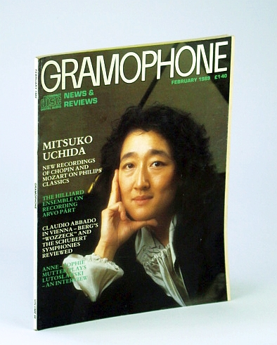 Image for Gramophone Magazine, February (Feb.) 1989 - Mitsuko Uchida Cover Photo