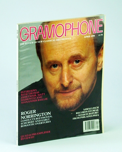 Image for Gramophone Magazine, April (Apr.) 1990 - Roger Norrington Cover Photo