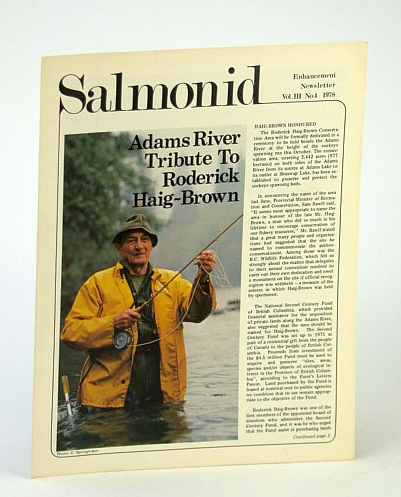 Image for Salmonid Enhancement Newsletter Vol. III No. 4 1978 - Adams River Tribute to Roderick Haig-Brown