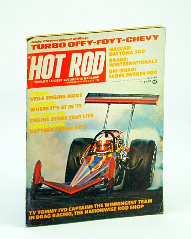 Image for Hot Rod May 1975 Indy Powerplant X-ray: Turbo Offy-foyt-chevy Nascar: Daytona 500 (Hot Rod)