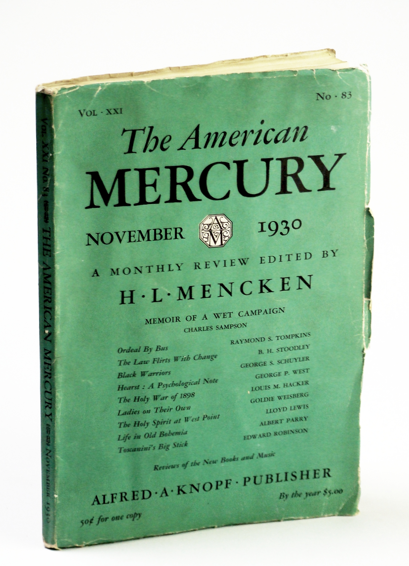 Image for The American Mercury (Magazine), A Monthly Review, November (Nov.) 1930, Vol. XXI, No. 83: Hearst - A Psychological Note