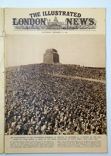 Image for The Illustrated London News, December (Dec.) 31, 1949 - Inauguration of the Voortrekker Memorial