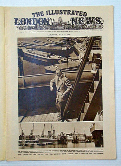 Image for The Illustrated London News, July 23, 1949 - London Dock Strike