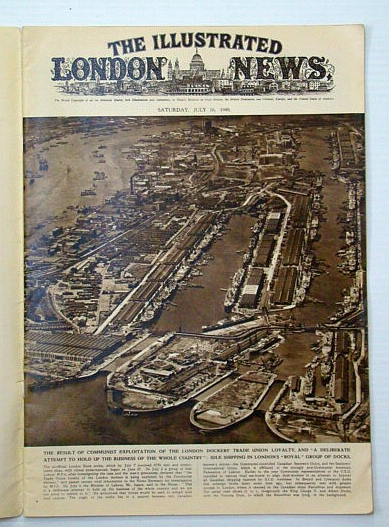 Image for The Illustrated London News, July 16, 1949 - London Dock Strike