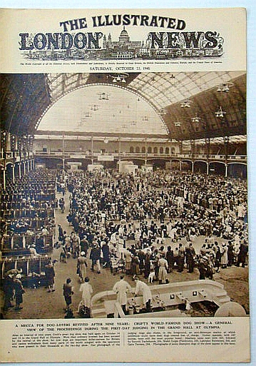 Image for The Illustrated London News, Saturday, October (Oct.) 23, 1948: Cruft's World-Famous Dog Show at Olympia