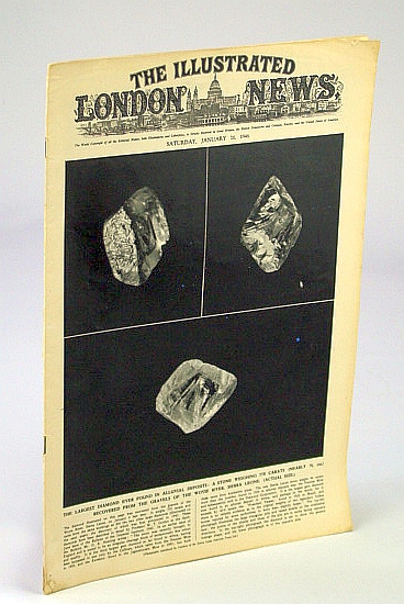 Image for The Illustrated London News, January (Jan.) 26, 1946: Cover Photo of the Largest Diamond Ever Found